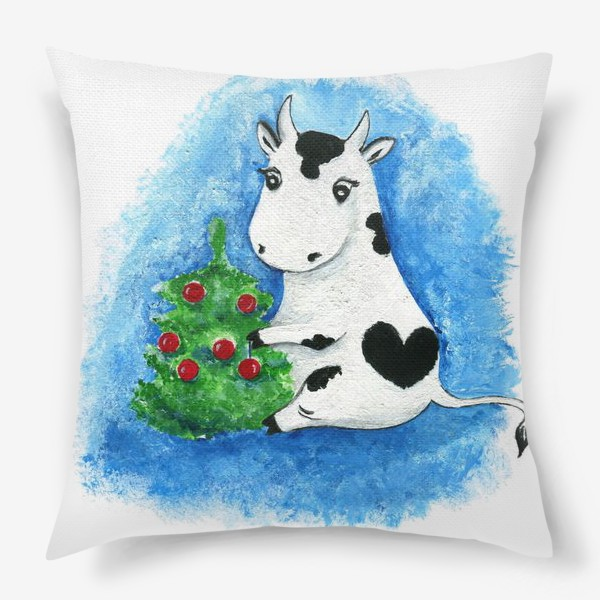 Подушка «Новогодняя коровка»