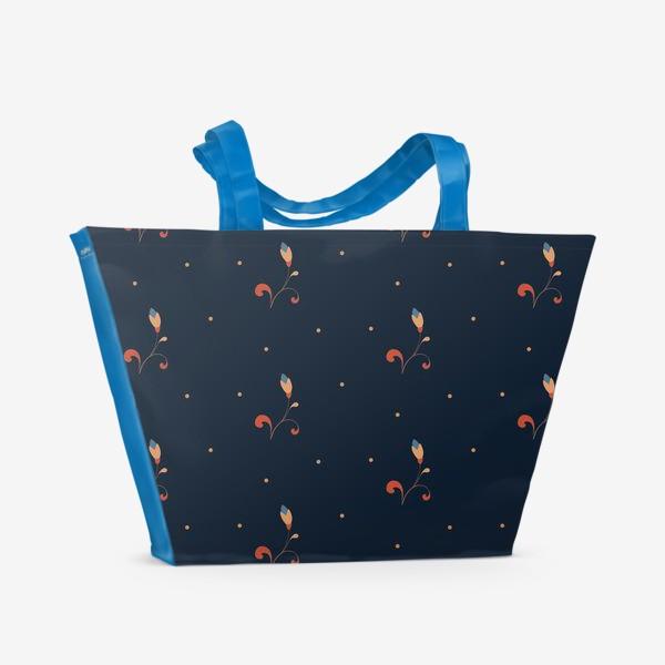 Пляжная сумка «Мелкий цветочный узор»