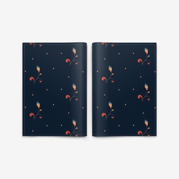 Обложка для паспорта «Мелкий цветочный узор»