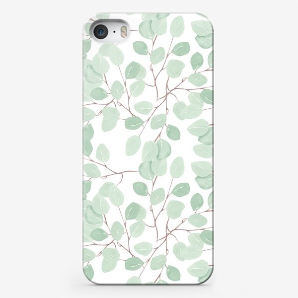 Чехол iPhone «Эвкалипт ветки паттерн»