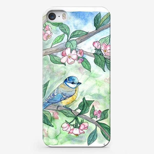 Чехол iPhone «Синица на яблоне»