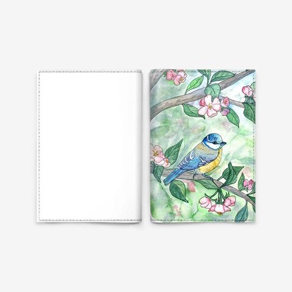 Обложка для паспорта «Синица на яблоне»