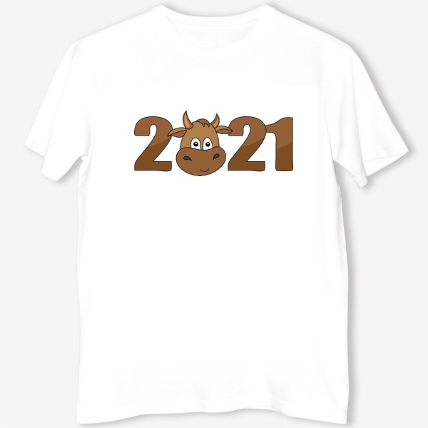 Футболка «2021 Принт с быком»