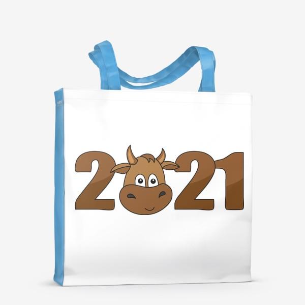 Сумка-шоппер «2021 Принт с быком»