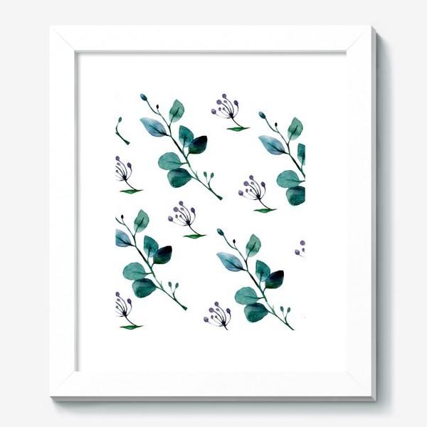 Картина «Листья и ягоды»