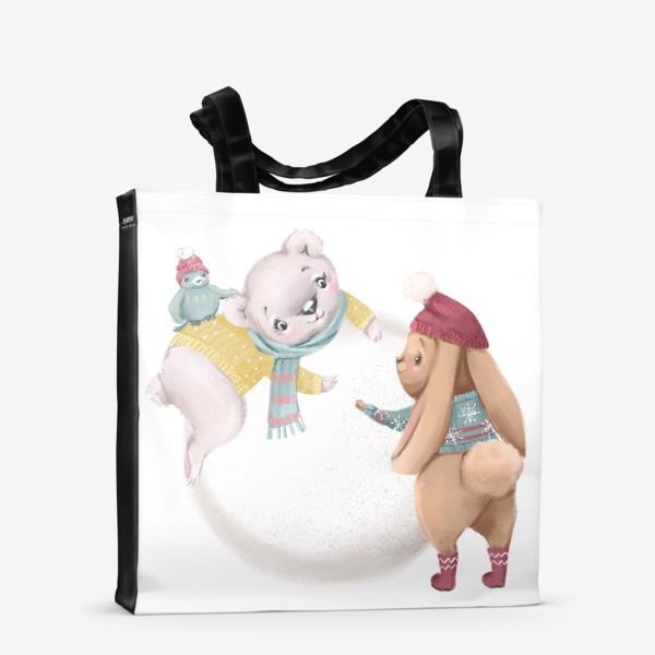 Сумка-шоппер «Новый год и Рождество, Зайка»