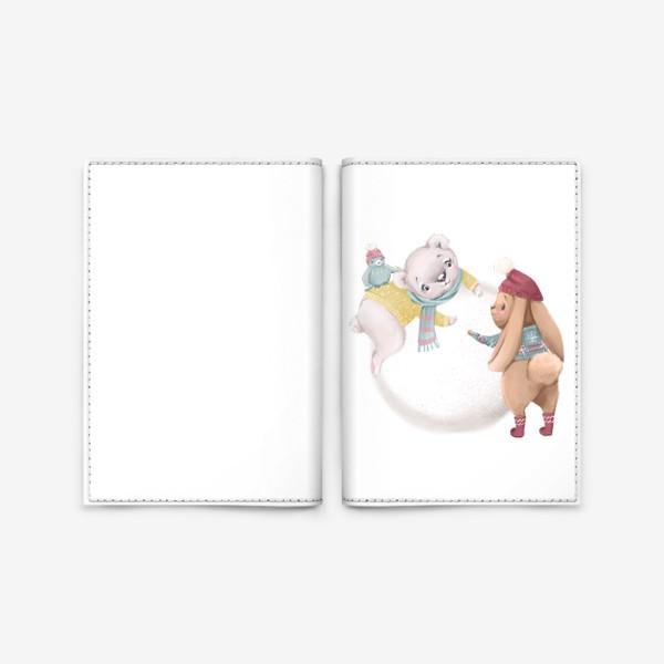 Обложка для паспорта «Новый год и Рождество, Зайка»