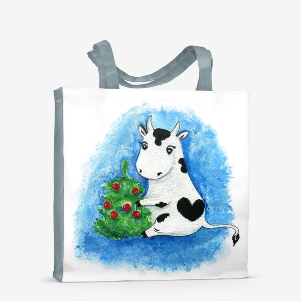 Сумка-шоппер «Новогодняя коровка»