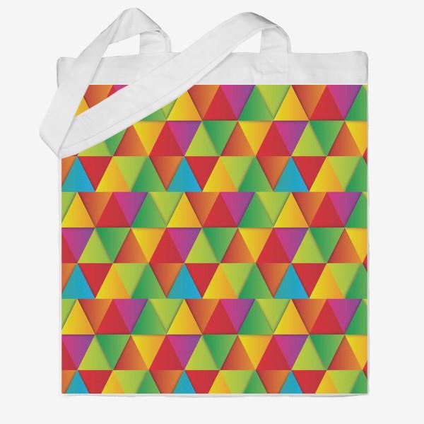 Сумка хб «Яркие треугольники»