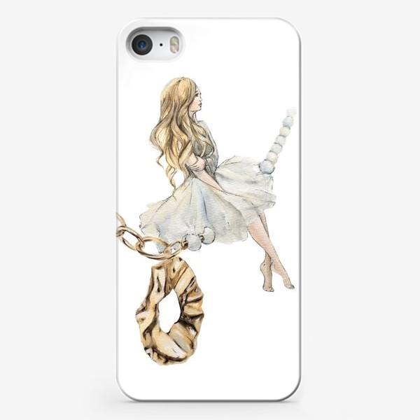 Чехол iPhone «Fashion Воздушная Девушка украшения золото»