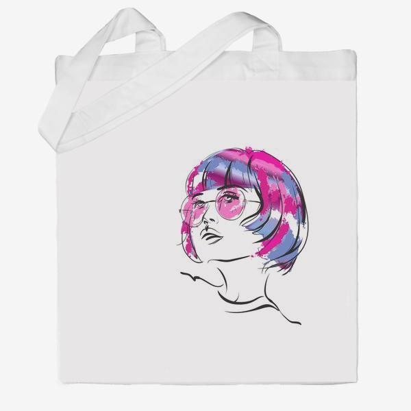 Сумка хб «Lollipop   Color hair   Fashion cкетч»