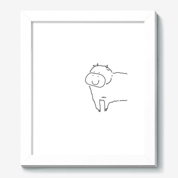 Картина «Улыбка бычка. Год быка 2021. новый год»