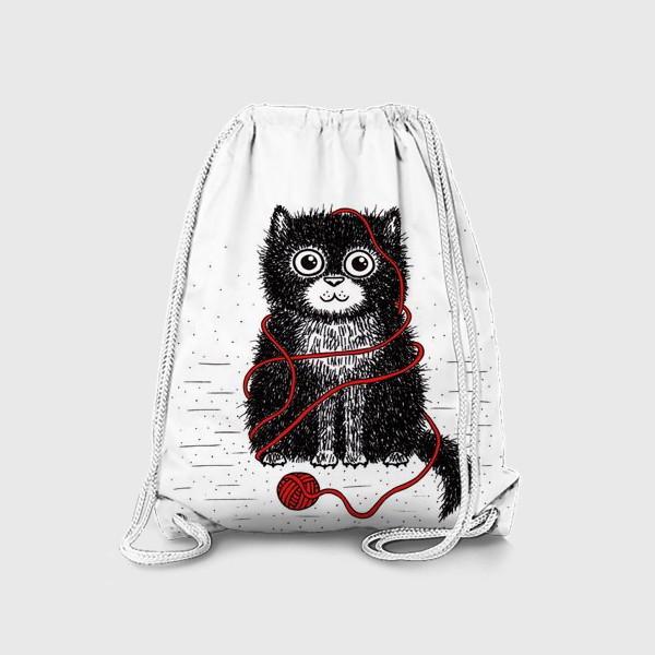 Рюкзак «Кот и пряжа»