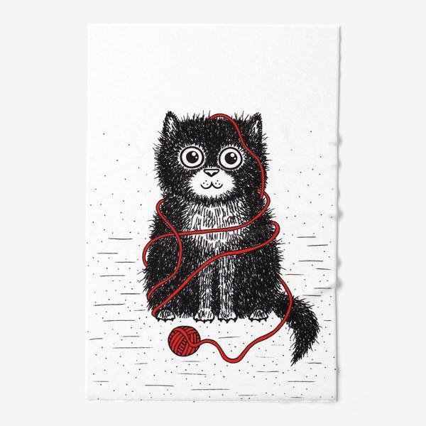 Полотенце «Кот и пряжа»