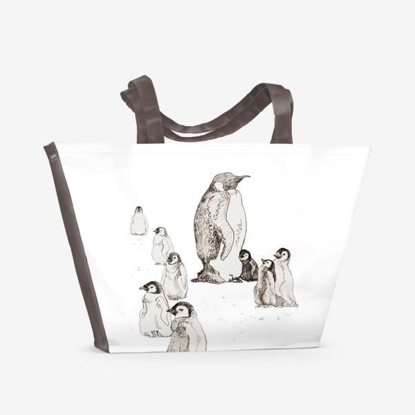 Пляжная сумка «Пингвины»