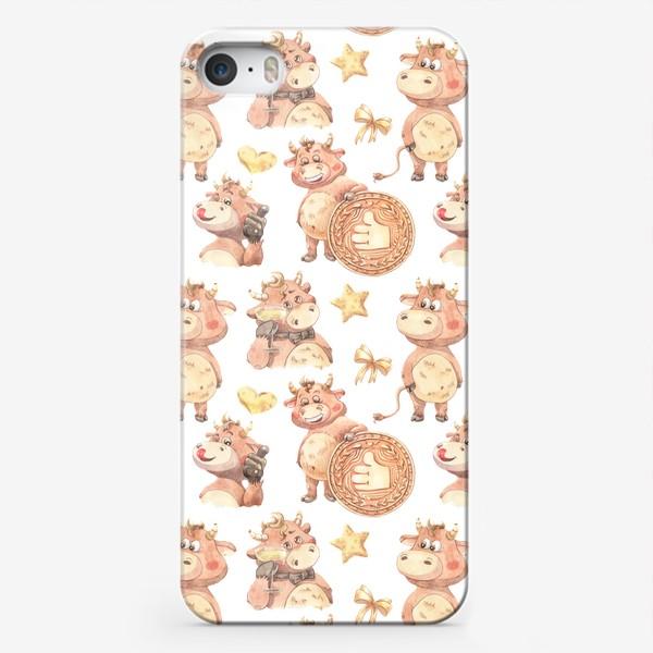 Чехол iPhone «Довольный телец»