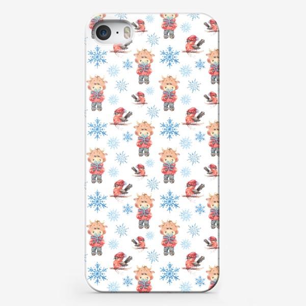 Чехол iPhone «Зимние бычки»