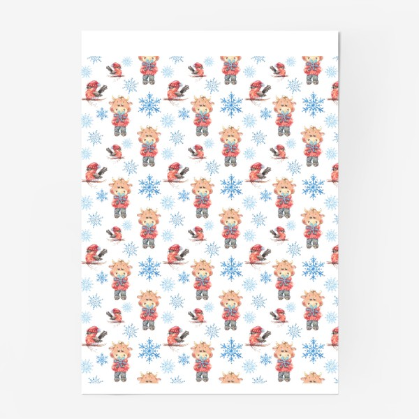Постер «Зимние бычки»
