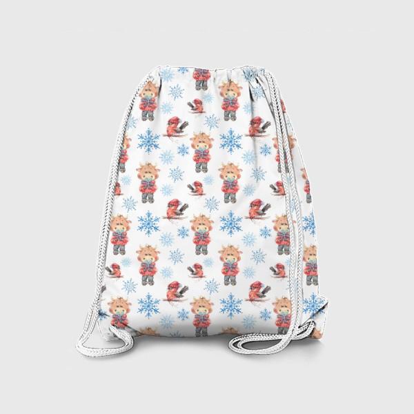 Рюкзак «Зимние бычки»