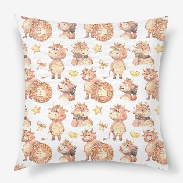 Подушка «Довольный телец»