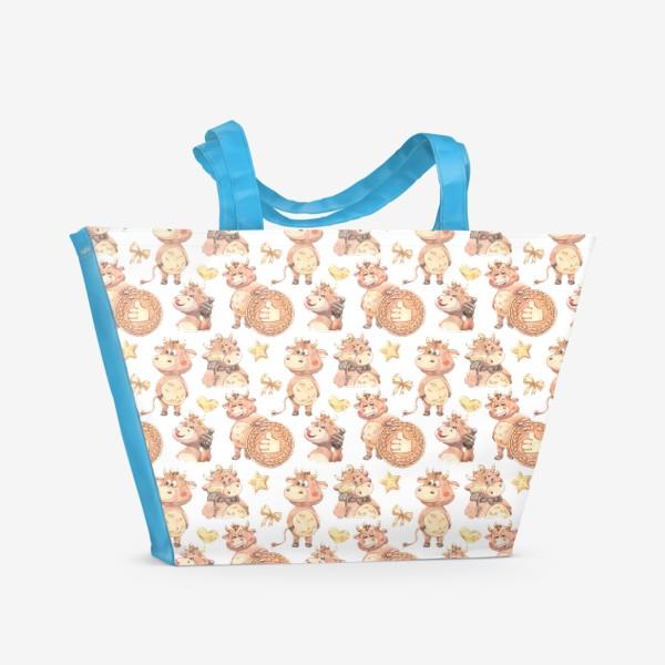 Пляжная сумка «Довольный телец»