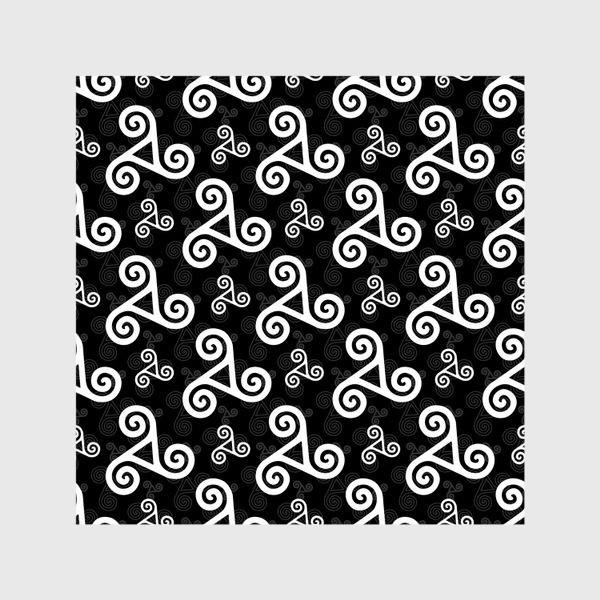 Шторы «Черно-белые трискели»