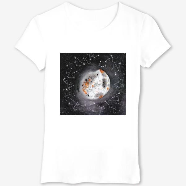 Футболка «Космос луна созвездия знаки зодиака»