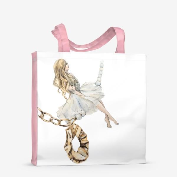 Сумка-шоппер «Fashion Воздушная Девушка украшения золото»