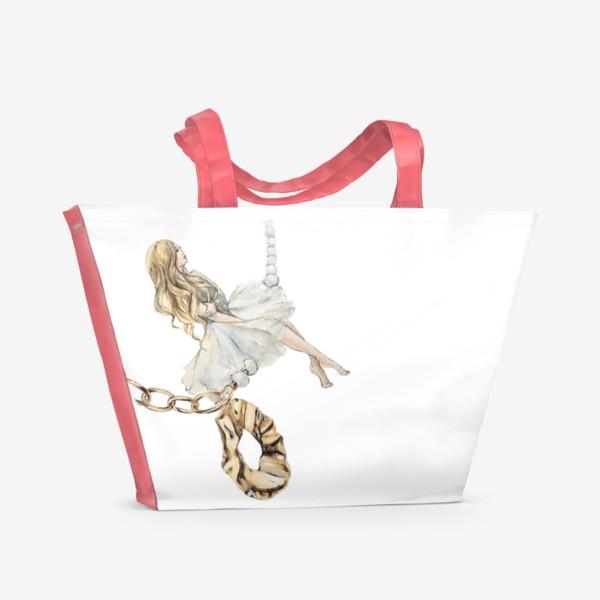 Пляжная сумка «Fashion Воздушная Девушка украшения золото»