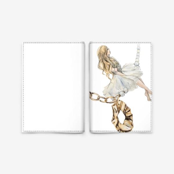 Обложка для паспорта «Fashion Воздушная Девушка украшения золото»