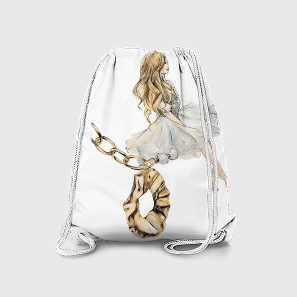Рюкзак «Fashion Воздушная Девушка украшения золото»