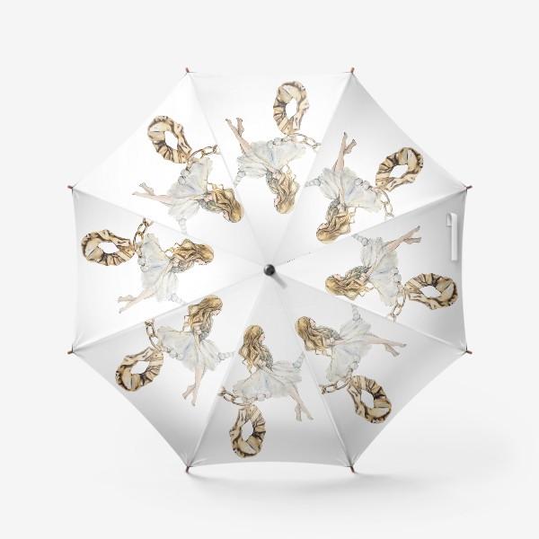 Зонт «Fashion Воздушная Девушка украшения золото»