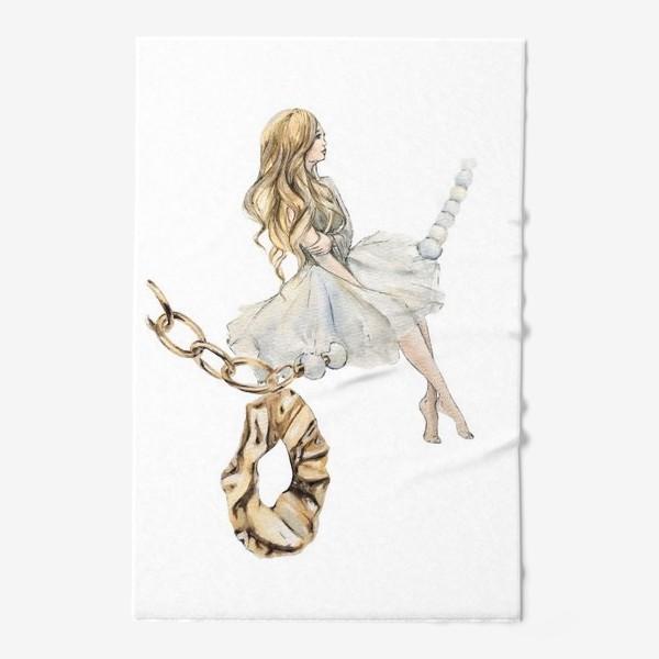 Полотенце «Fashion Воздушная Девушка украшения золото»
