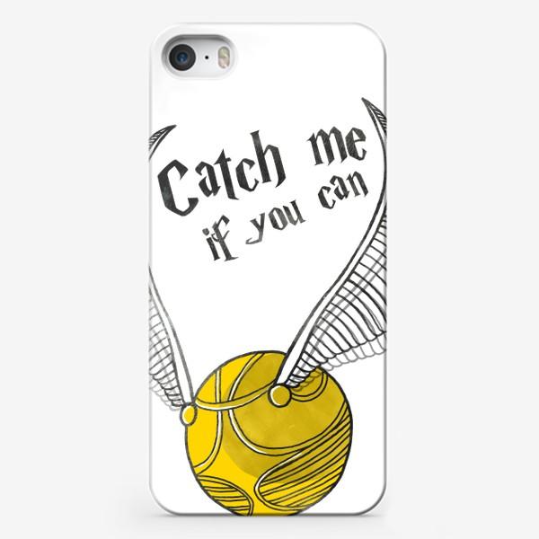 Чехол iPhone «Снитч. Гарри Поттер. Поймай меня. Хогвартс. Квиддич. Golden Snitch. Harry Potter. Hogwarts. Quidditch»