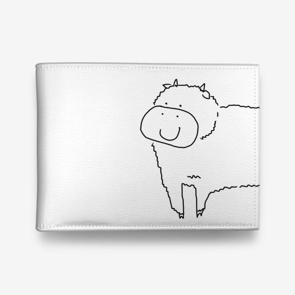Кошелек «Улыбка бычка. Год быка 2021. новый год»