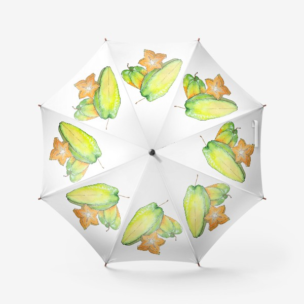 Зонт «Экзотические фрукты - Звездный фрукт, Карамбола»