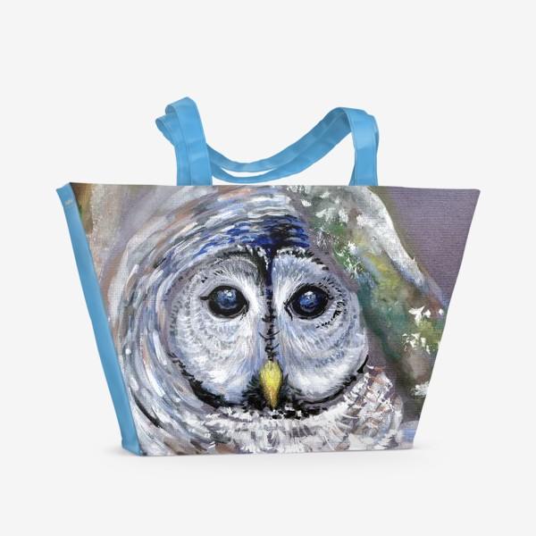 Пляжная сумка «Сова отшельница»