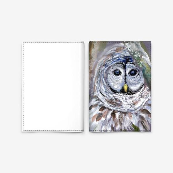 Обложка для паспорта «Сова отшельница»