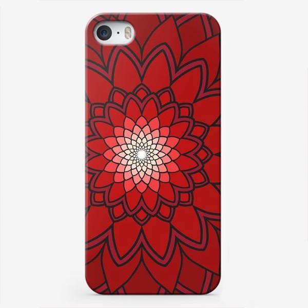 Чехол iPhone «Мандала красная астра»