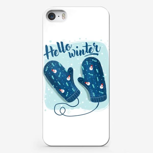 Чехол iPhone «Привет зима. Зимние рукавички»