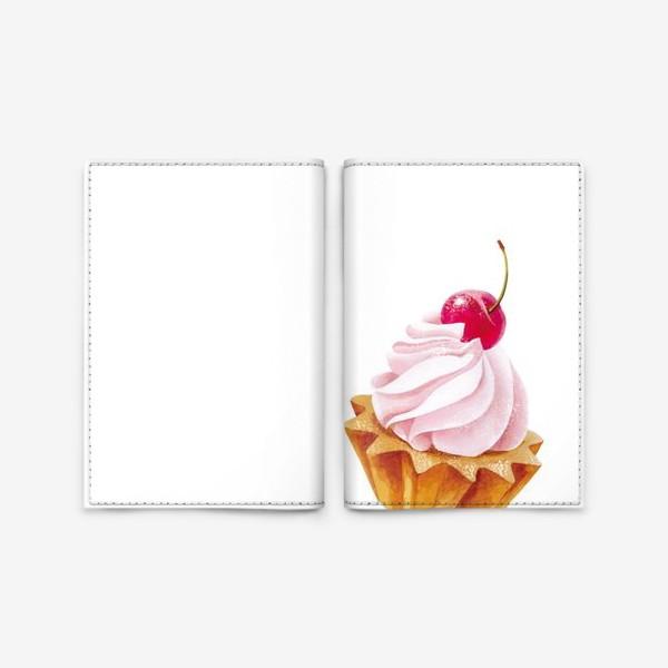 Обложка для паспорта «пирожное»