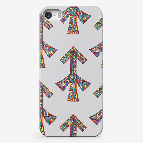 Чехол iPhone «Знак зодиака СТРЕЛЕЦ паттерн»