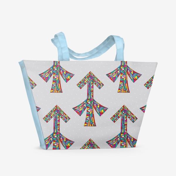 Пляжная сумка «Знак зодиака СТРЕЛЕЦ паттерн»