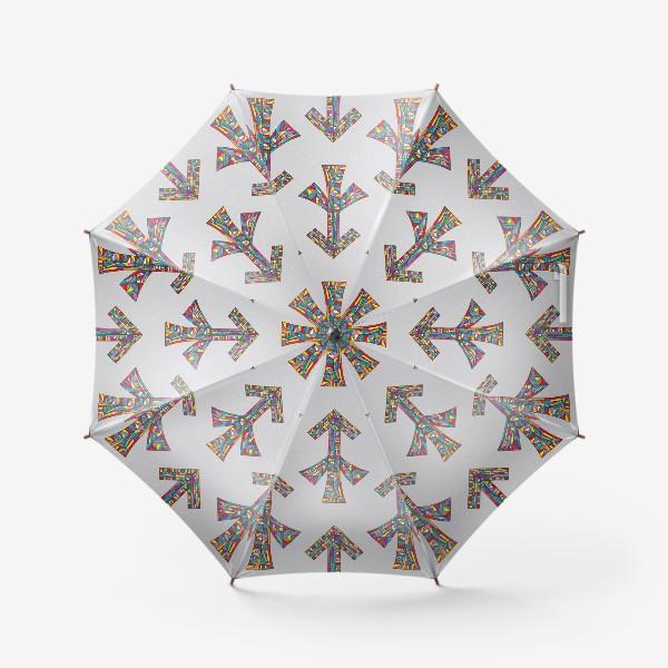 Зонт «Знак зодиака СТРЕЛЕЦ паттерн»