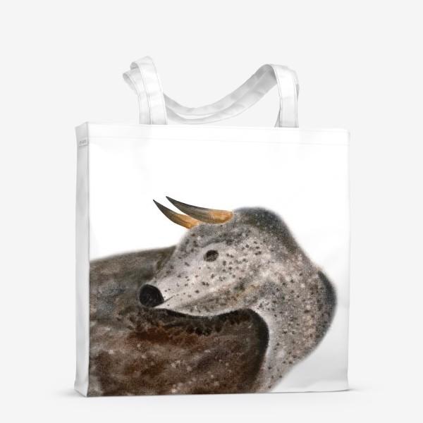 Сумка-шоппер «Серый пятнистый бык»