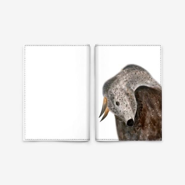Обложка для паспорта «Серый пятнистый бык»
