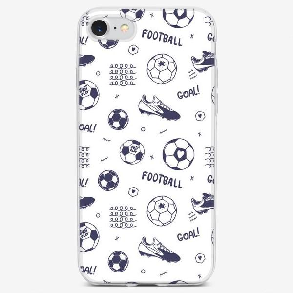 Чехол iPhone «Футбольный паттерн#1»