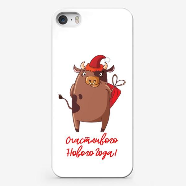 Чехол iPhone «Счастливого Нового Года быка!»