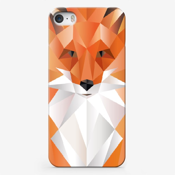 Чехол iPhone «Лиса полигональная»