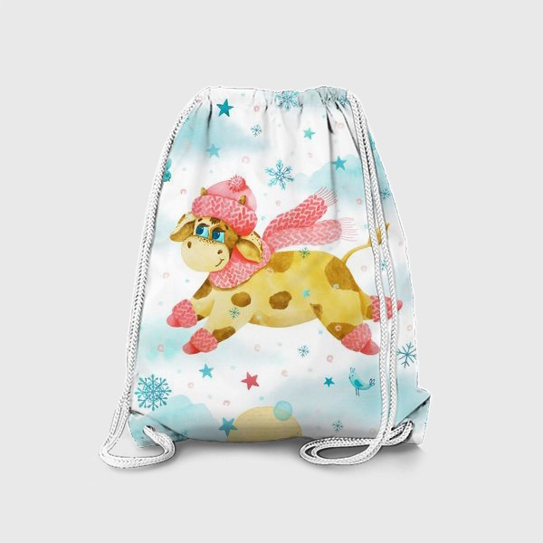Рюкзак «Новогодняя сказка. Бык, символ 2021 года. »